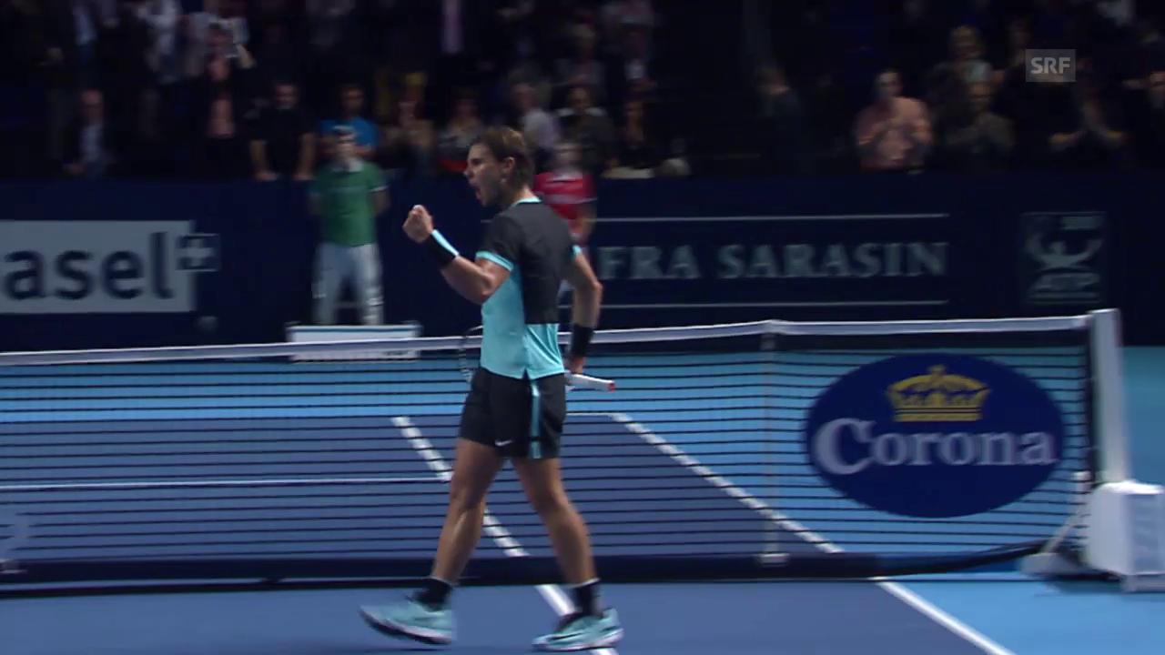 Tennis: Swiss Indoors, Nadal - Rosol, ZSF