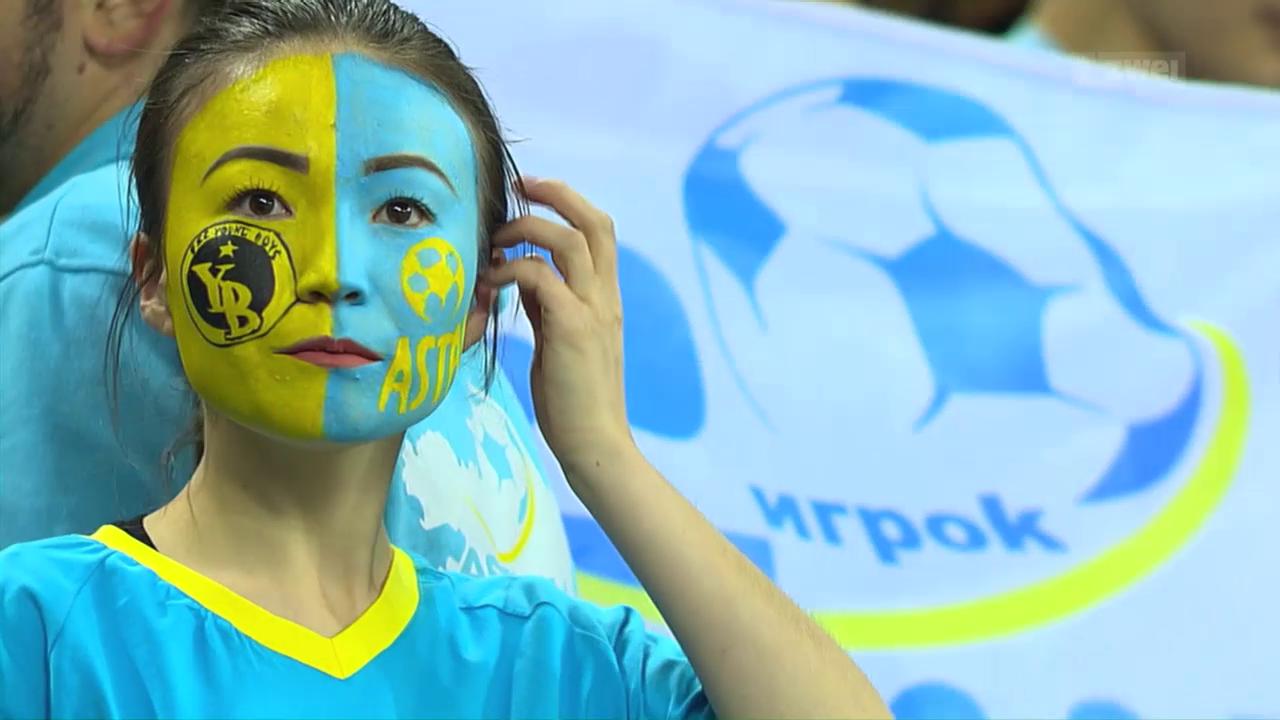 YB erkämpft sich in Astana einen Punkt