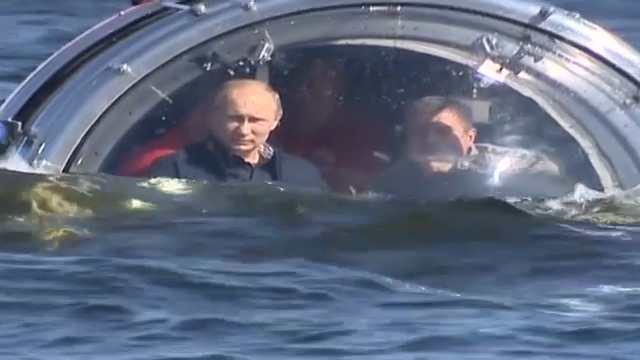 Wladimir Putins Tauchgang in einer Unterseekapsel