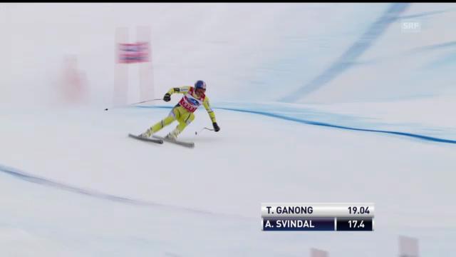 Ski alpin: Aksel Svindal im 1. Training zur Lauberhorn-Abfahrt (unkommentiert)