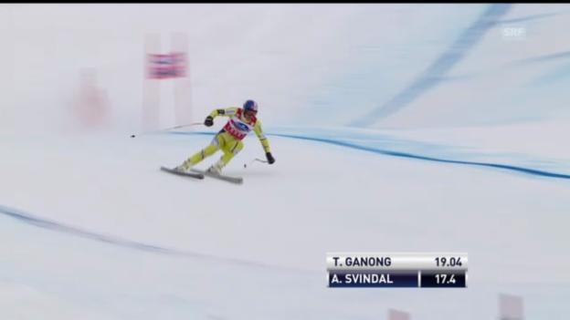 Video «Ski alpin: Aksel Svindal im 1. Training zur Lauberhorn-Abfahrt (unkommentiert)» abspielen