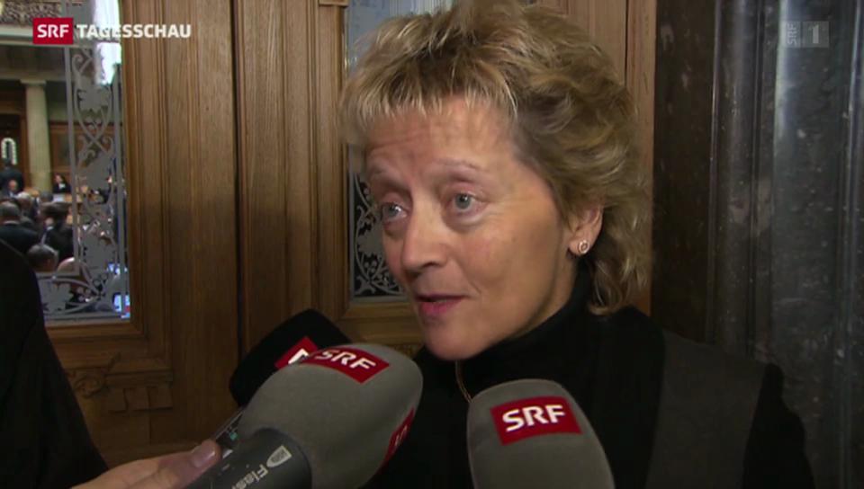 Eveline Widmer-Schlumpf zur Absage des Nationalrats