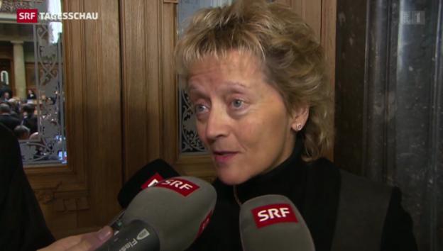 Video «Eveline Widmer-Schlumpf zur Absage des Nationalrats» abspielen
