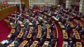 Video «Griechisches Parlament stimmt über Reformen ab» abspielen