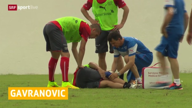 Video «FIFA WM 2014: Die Verletzung von Gavranovic» abspielen
