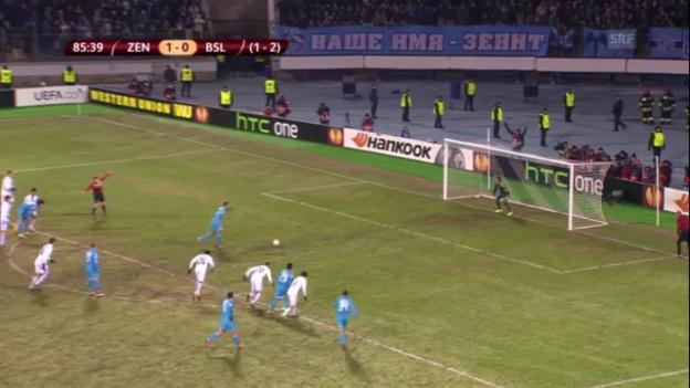 Video «Fussball: Highlights: Zenit St. Petersburg - FC Basel («sportlive»)» abspielen