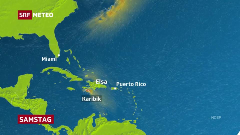 Hurrikan Elsa in der Karibik.