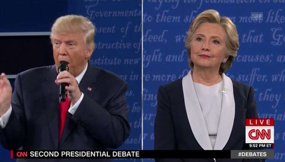 TV-Debatte Trump vs. Clinton (ungekürzt)