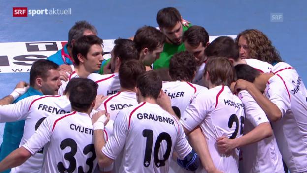 Video «Handball: Schweiz - Spanien (sportaktuell, 5.4.2014)» abspielen
