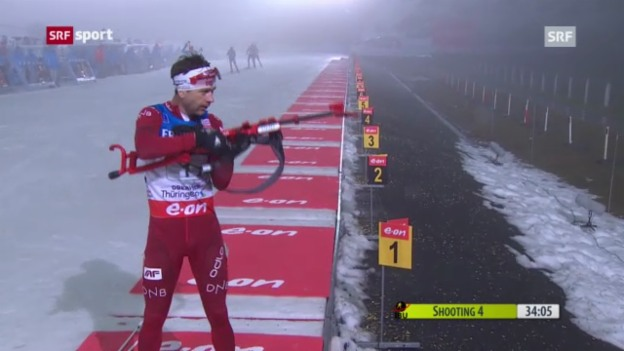 Video «Biathlon: Staffel in Oberhof («sportaktuell»)» abspielen