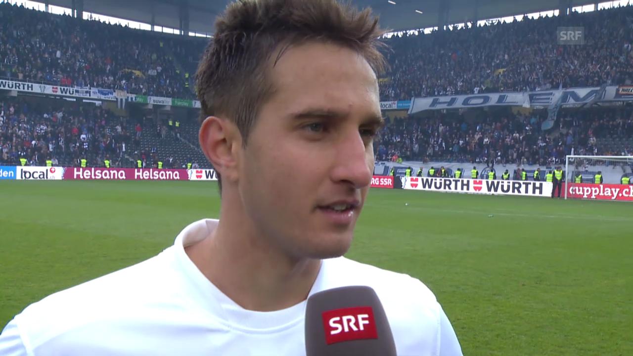 Fussball: Cupfinal Zürich - Basel, Interview mit Mario Gavranovic
