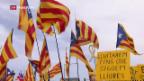 Video «Demo für Unabhängigkeit Kataloniens» abspielen