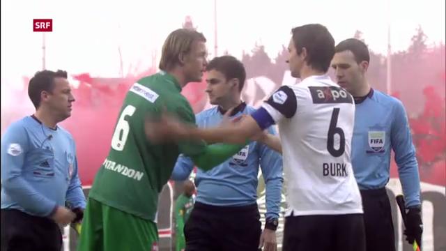 Fussball: Aarau - St. Gallen («sportpanorama»)