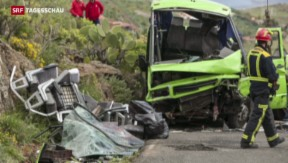 Video «Schwerer Car-Unfall auf Gran Canaria mit Schweizer Touristen» abspielen