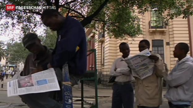 Video «Wahlen in Kenia («Tagesschau Mittag» vom 05. März 2013).» abspielen