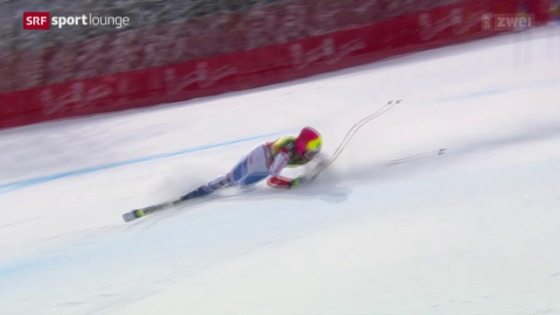 Video «Ski: Knieverletzung bei Dominique Gisin» abspielen
