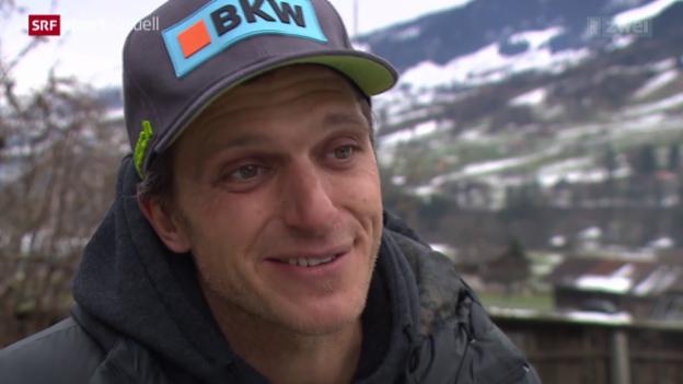 Video «Skicross: Mike Schmid tritt zurück» abspielen