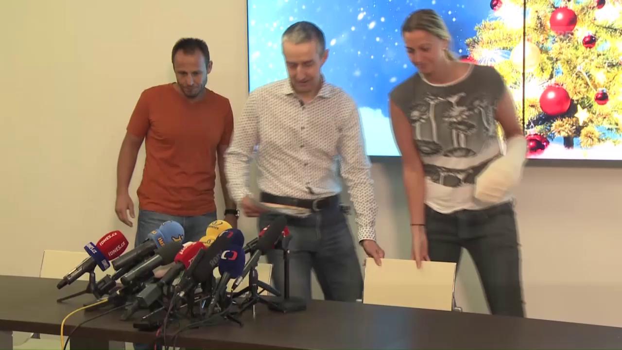 Kvitova stellt sich den Medien