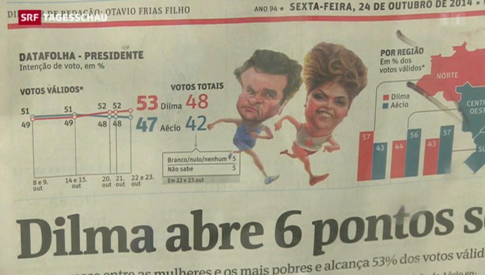 Kopf-an-Kopf-Rennen in Brasilien