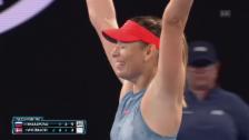 Link öffnet eine Lightbox. Video Die besten Punkte bei Scharapowa - Wozniacki abspielen