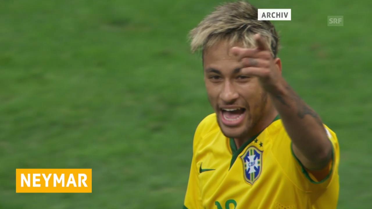 Neymar besucht Brasiliens Team