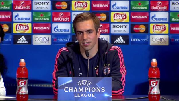 Video «Bayern-Captain Lahm: «Sind auf alles vorbereitet» (SNTV)» abspielen