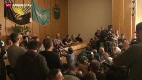 Video «Pro-russische Separatisten bekennen sich zu Geiselnahme» abspielen