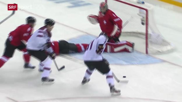 Video «Eishockey: Schweiz mit Zittersieg gegen Lettland» abspielen