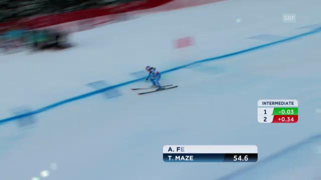 Ski-WM: Kombi-Abfahrt von Tina Maze