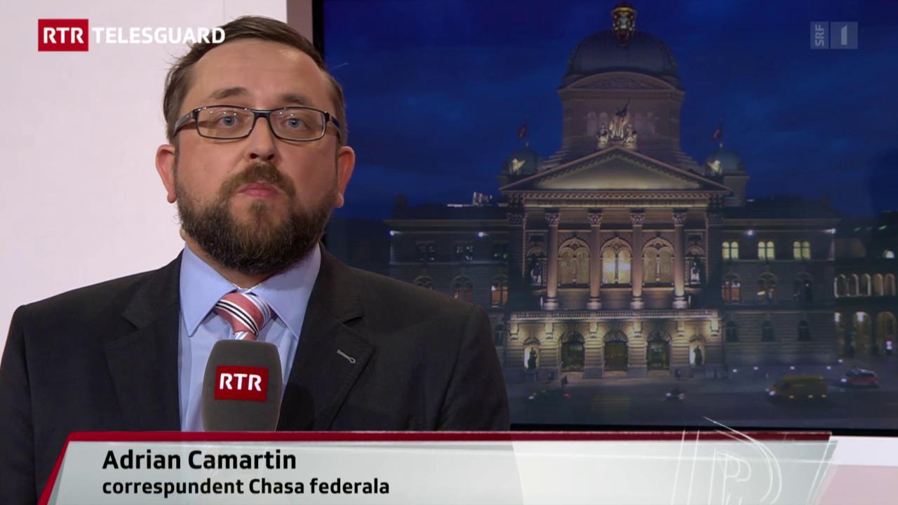 Valitaziuns dal corrspundent RTR en chasa federala Adrian Camartin