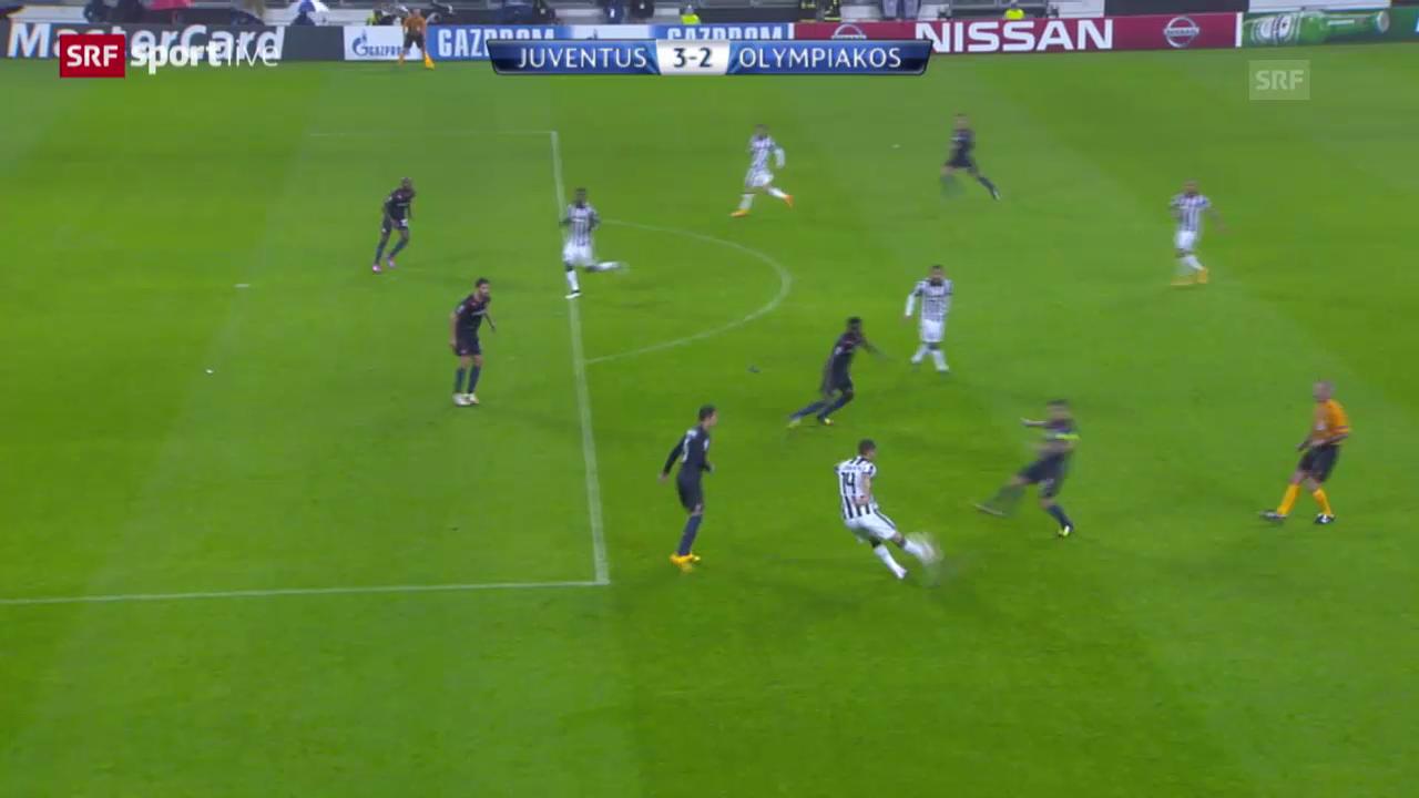 Fussball: CL, Juventus - Piräus