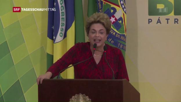 Video «Polit-Krimi um Rousseff» abspielen