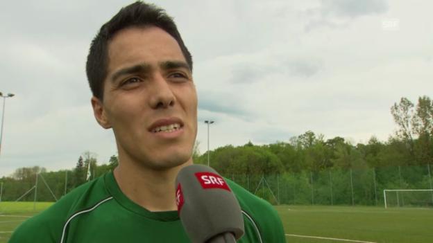 Video «Fussball: Interview mit Oscar Scarione» abspielen