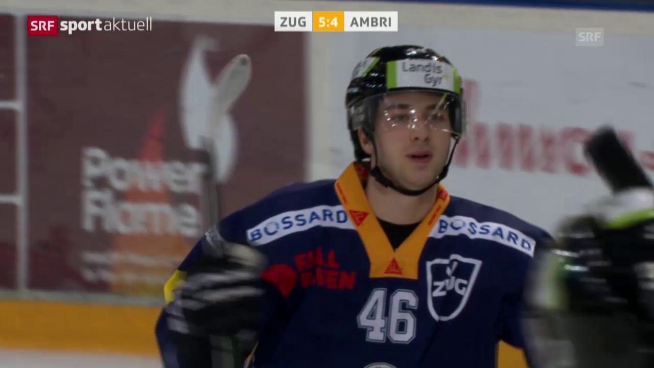 Zugs Martschini entscheidet Match gegen Ambri mit feinem Händchen
