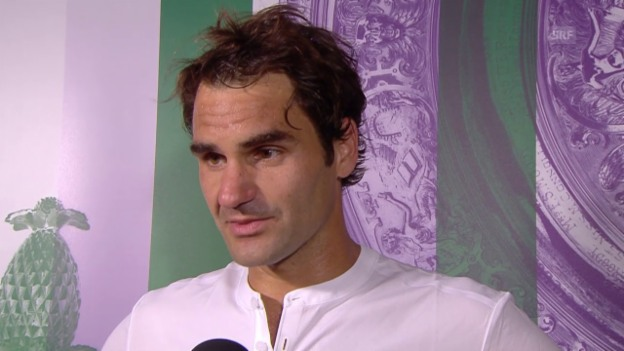 Video «Tennis: Wimbledon, Federer im Interview» abspielen