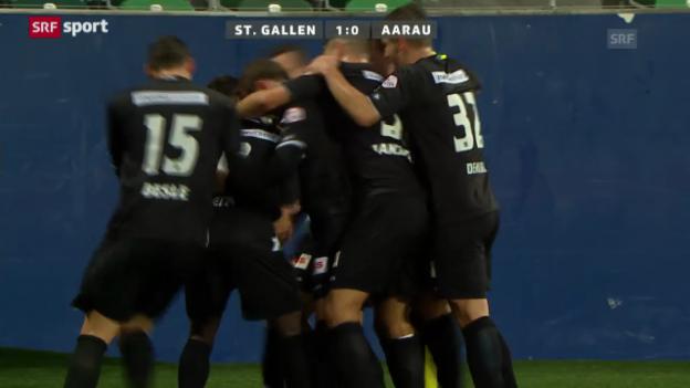 Video «Cup: St.Gallen-Aarau» abspielen