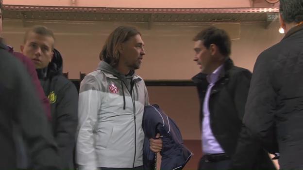 Video «Schweizer Trainerduell bei Mainz-Anderlecht» abspielen