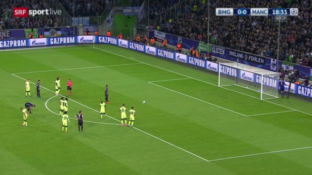 Video «Fussball: Champions League, Gladbach – Manchester City, Raffael vergibt Penalty» abspielen