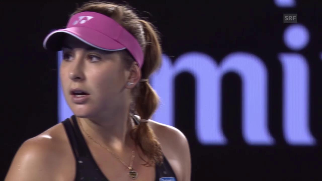 Achtelfinal der Australian Open zwischen Belinda Bencic und Maria Scharapowa
