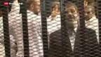 Video «Mursi-Prozess: kaum begonnen, schon wieder vertagt» abspielen