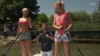 Video «Die Gewinnerin beim Paddeling ist...» abspielen