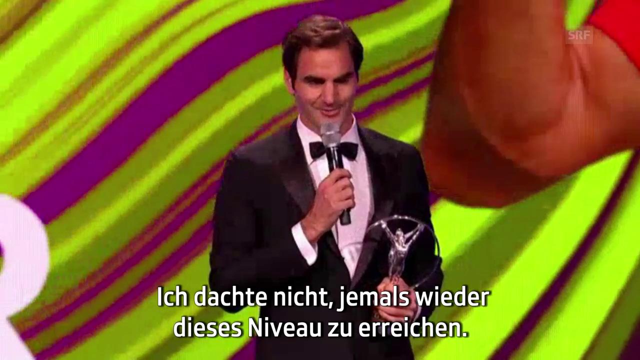 Federer erhält Ehrung für Comeback des Jahres