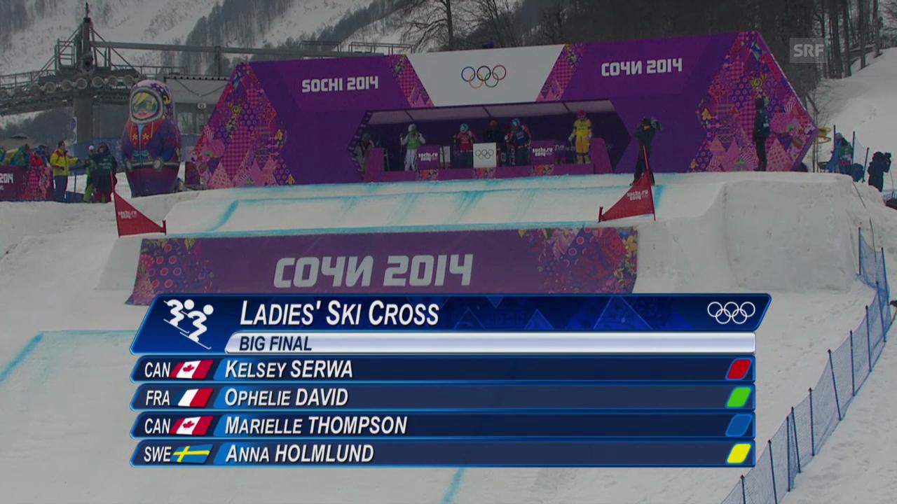 Skicross: Frauen, Final (sotschi direkt, 21.2.2014)