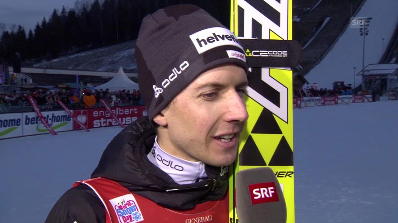 Skispringen: Vierschanzentournee Garmisch, Interview Ammann («sportlive», 1.1.2014)