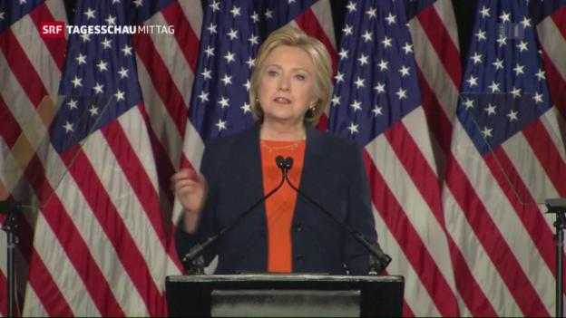 Video «Clinton schiesst gegen Trump» abspielen