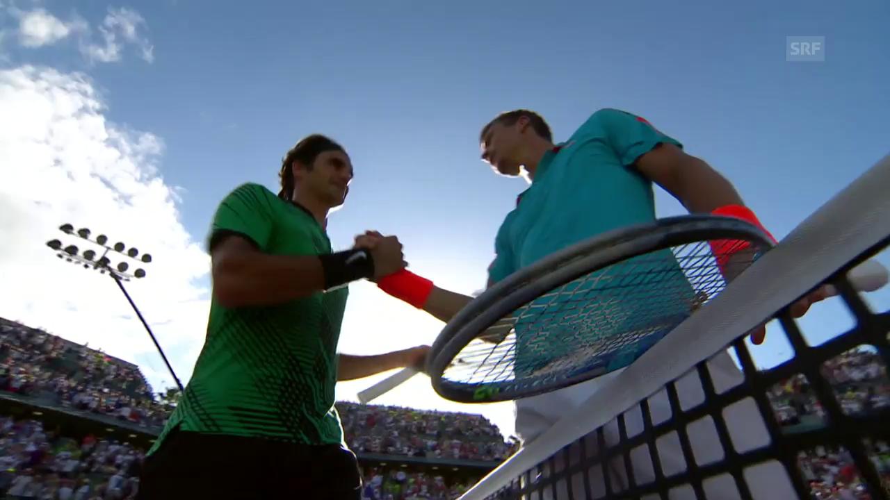 Federer - Berdych: Die Livehighlights
