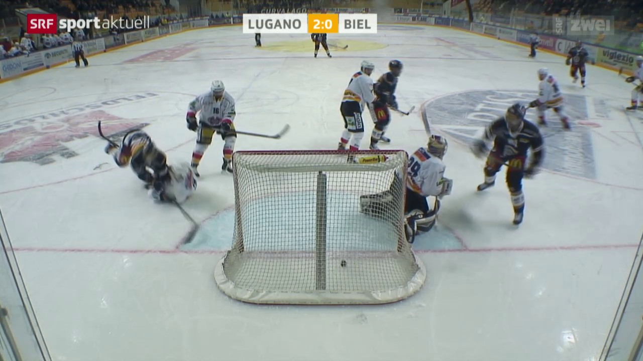 Eishockey: NLA, Lugano - Biel