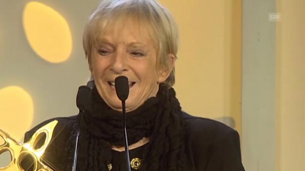 Video «Ursula Schaeppis Tränen-Auftritt am Prix Walo 2013» abspielen