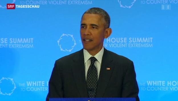 Video «Obama: Militärische Mittel allein reichen nicht aus» abspielen
