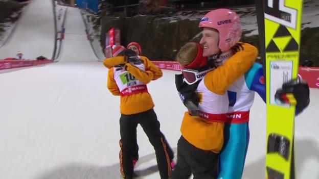 Video «Nordisch-WM in Falun: Die Entscheidung im Mixed-Skispringen» abspielen